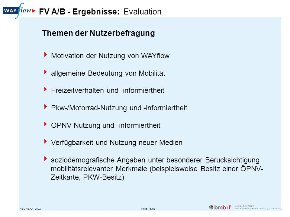 FV A/B - Ergebnisse: Evaluation