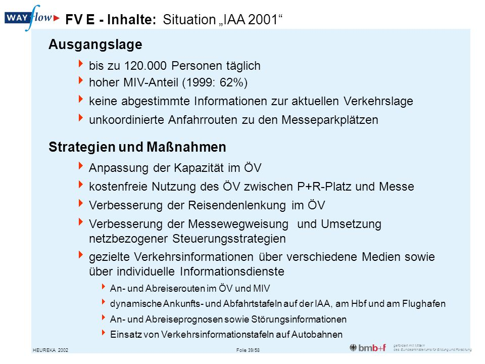 "FV E - Inhalte: Situation ""IAA 2001"