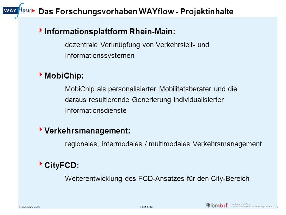 Das Forschungsvorhaben WAYflow - Projektinhalte