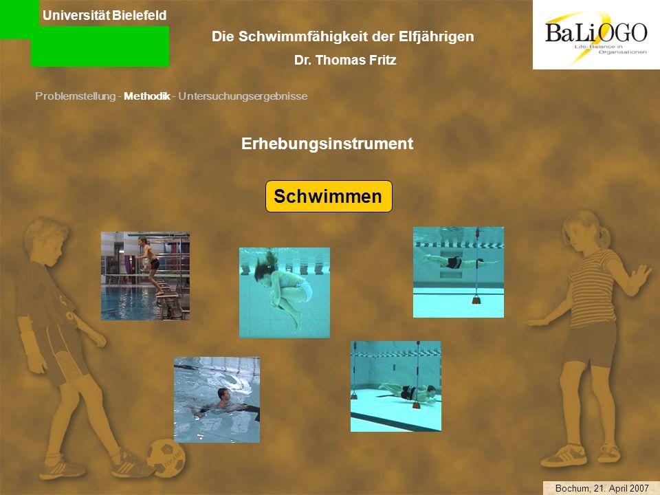 Schwimmen Erhebungsinstrument