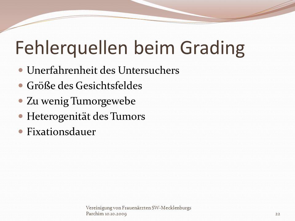 Fehlerquellen beim Grading