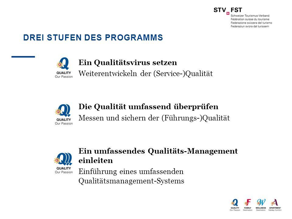 Drei Stufen des Programms