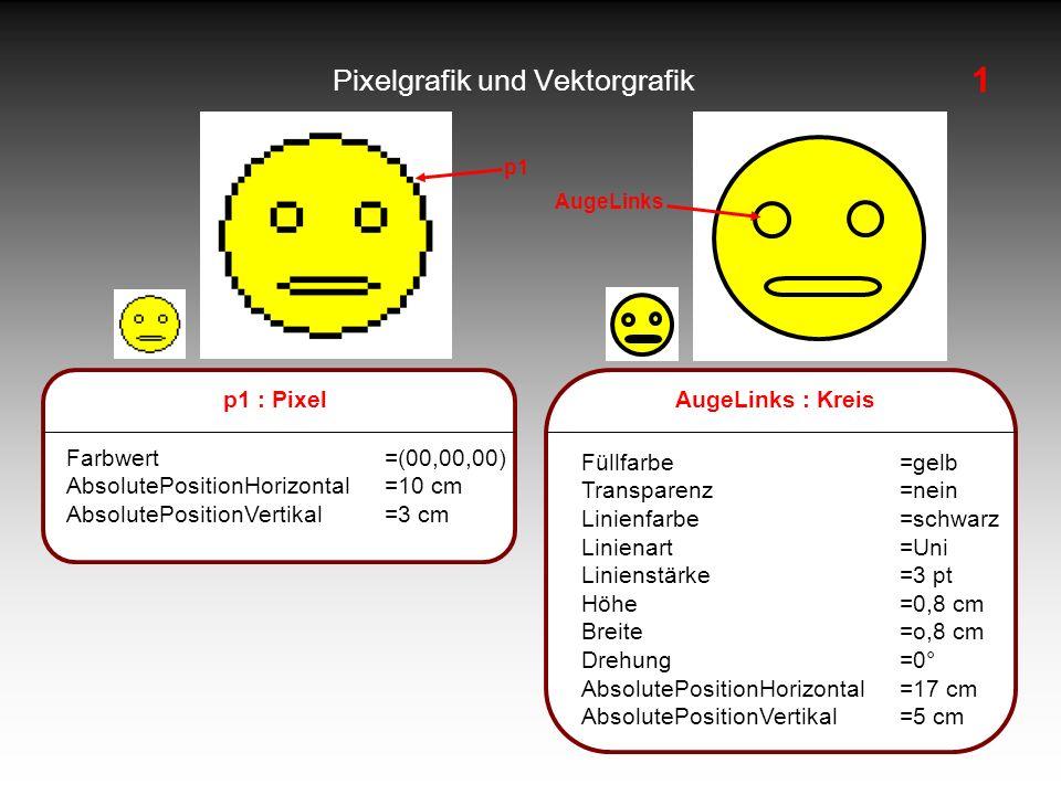 Pixelgrafik und Vektorgrafik