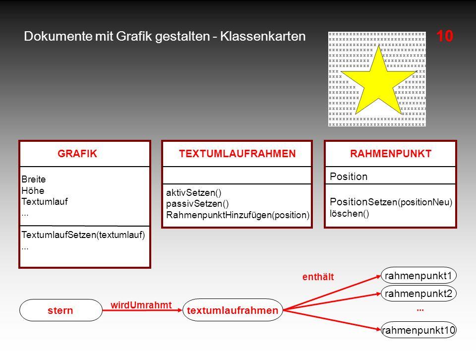 Dokumente mit Grafik gestalten - Klassenkarten