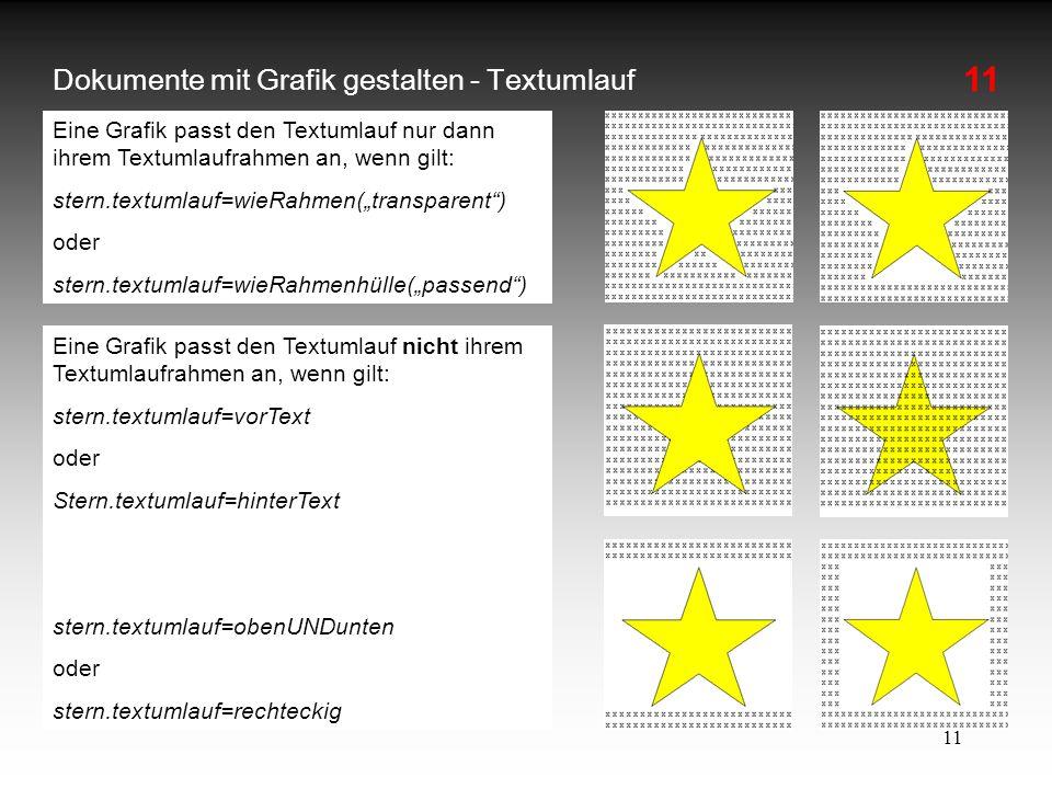 Dokumente mit Grafik gestalten - Textumlauf