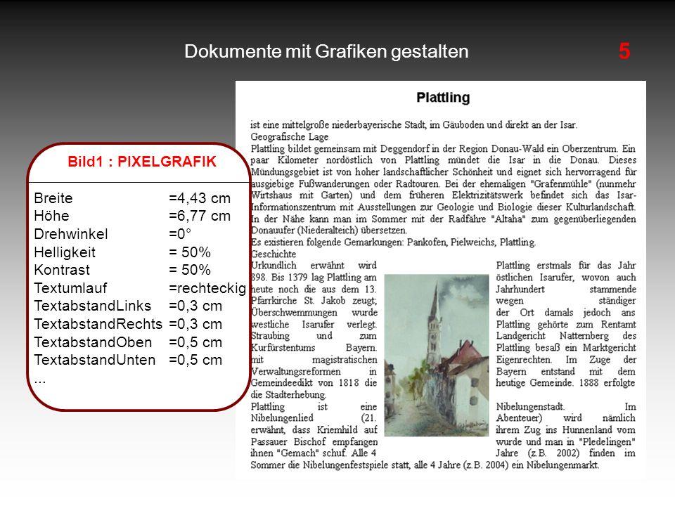 Dokumente mit Grafiken gestalten