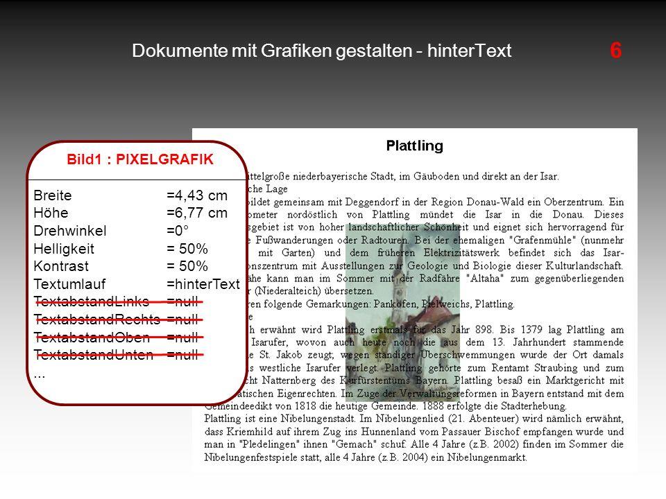 Dokumente mit Grafiken gestalten - hinterText