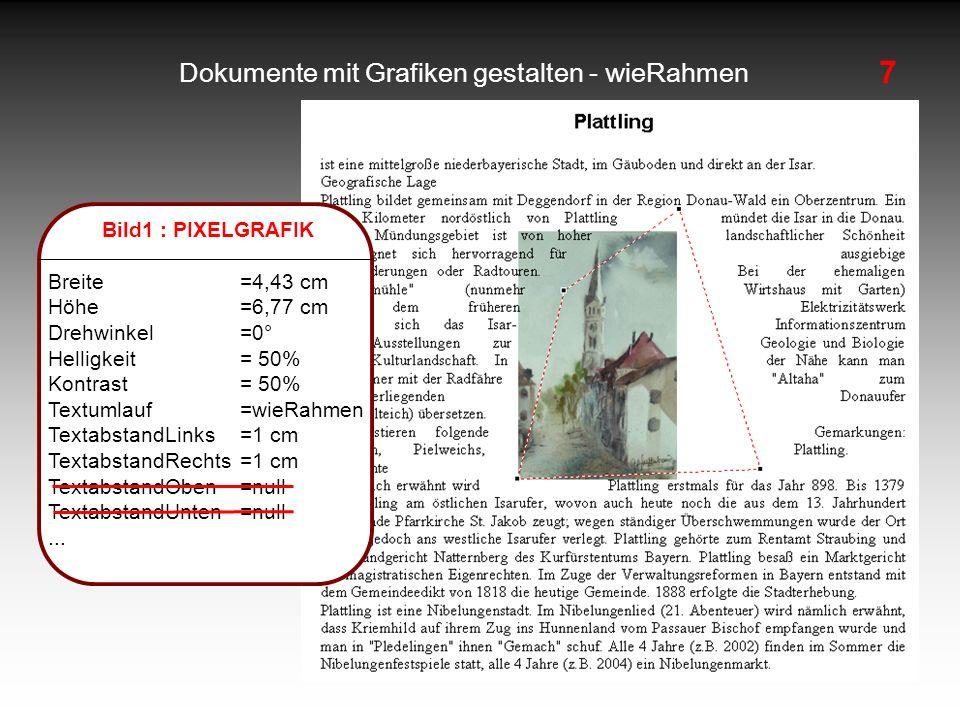 Dokumente mit Grafiken gestalten - wieRahmen