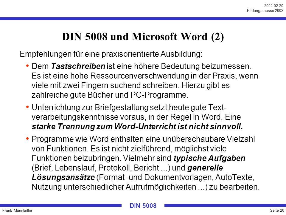 DIN 5008 und Microsoft Word (2)