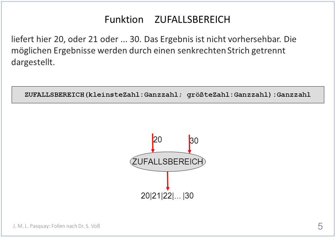 Funktion ZUFALLSBEREICH