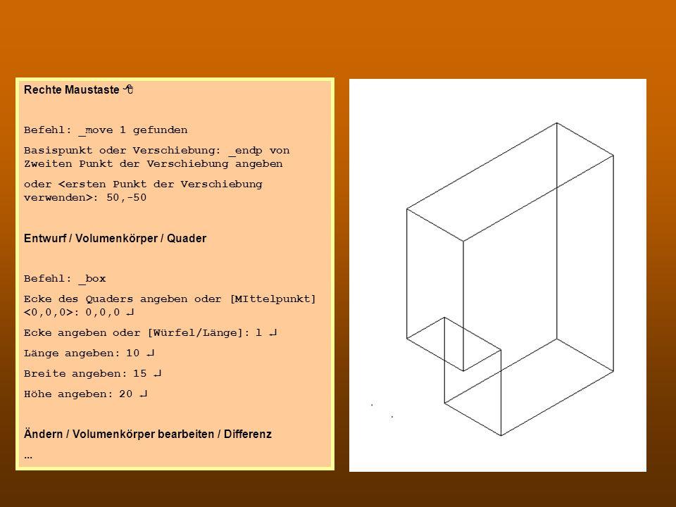 CAD 2 Rechte Maustaste 8 Befehl: _move 1 gefunden