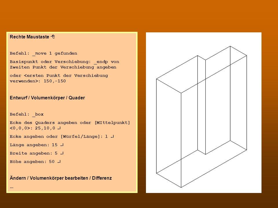 CAD 3 Rechte Maustaste 8 Befehl: _move 1 gefunden