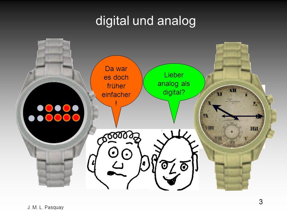 digital und analog Da war es doch früher einfacher!