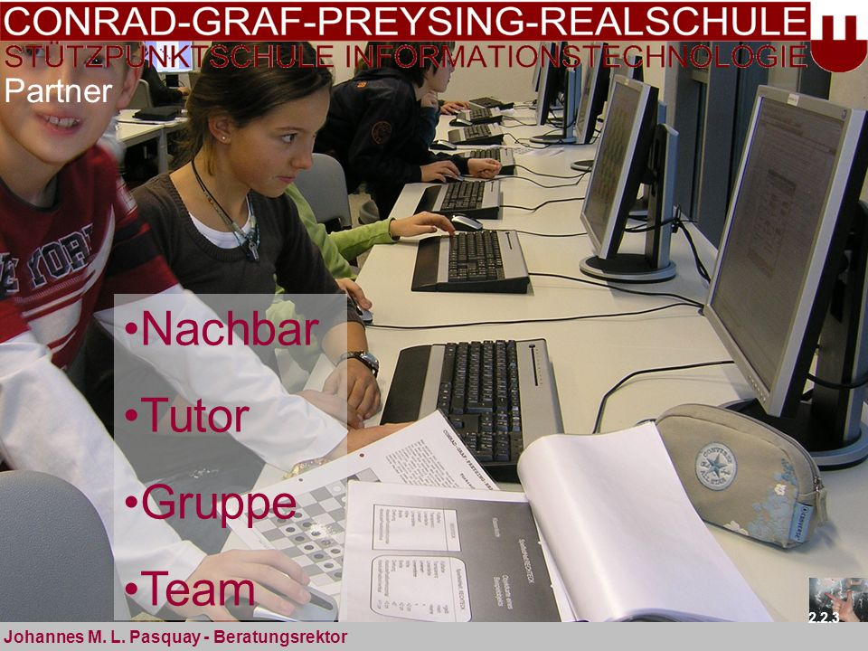 Nachbar Tutor Gruppe Team Partner