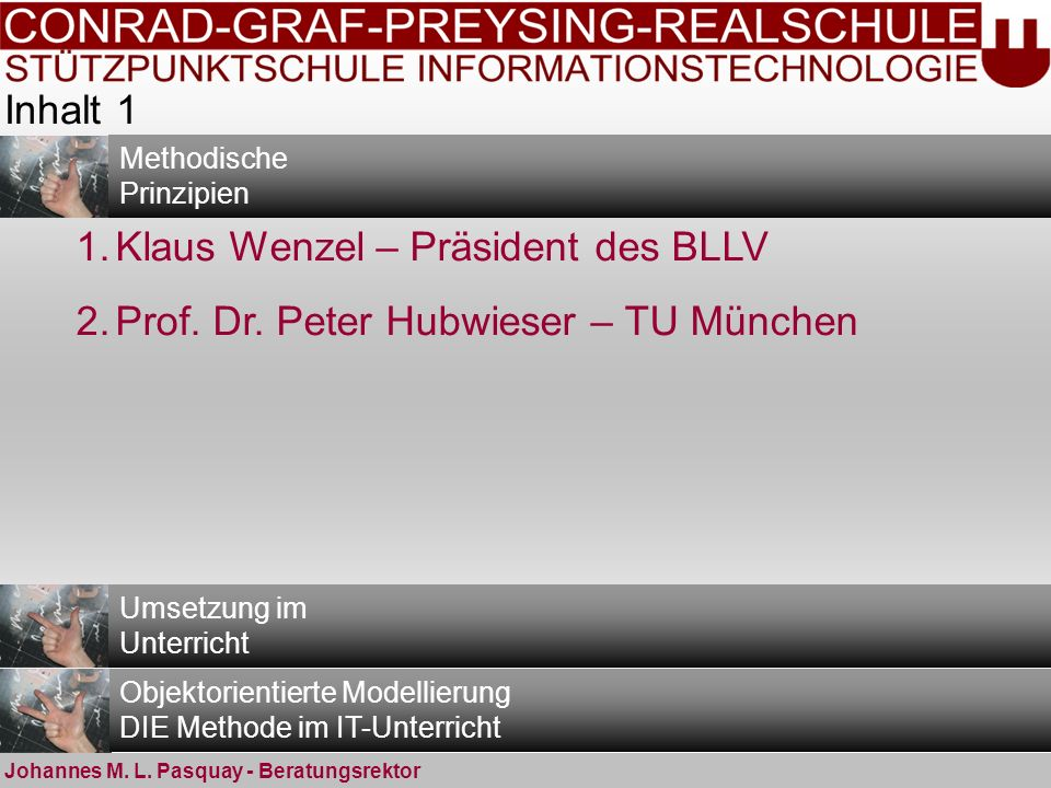 Klaus Wenzel – Präsident des BLLV