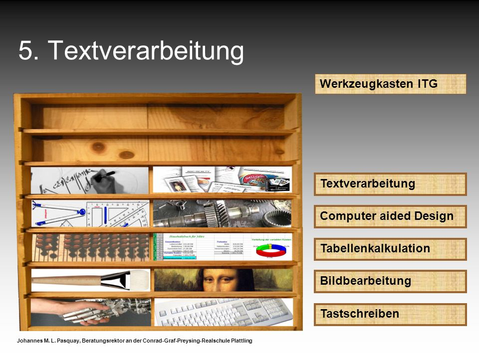 5. Textverarbeitung Werkzeugkasten ITG Textverarbeitung
