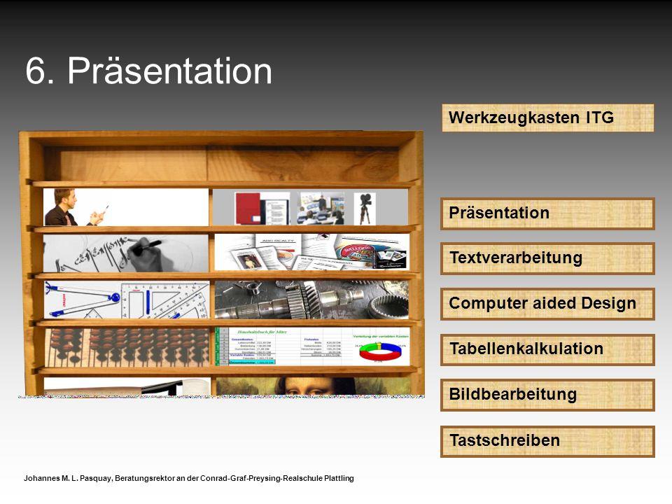 6. Präsentation Werkzeugkasten ITG Präsentation Textverarbeitung