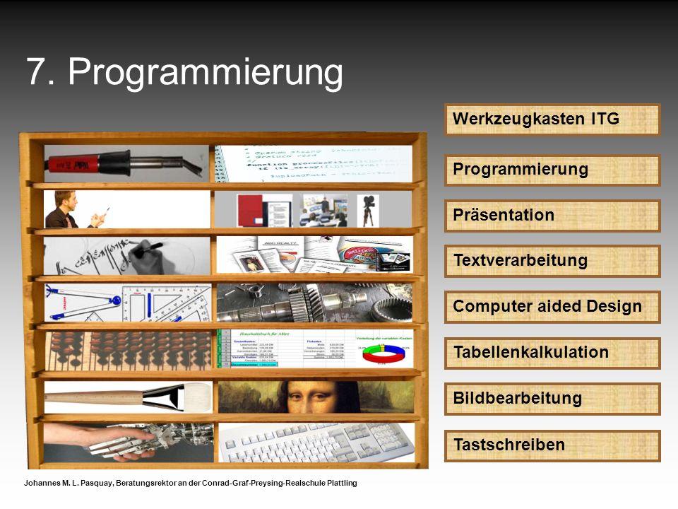 7. Programmierung Werkzeugkasten ITG Programmierung Präsentation