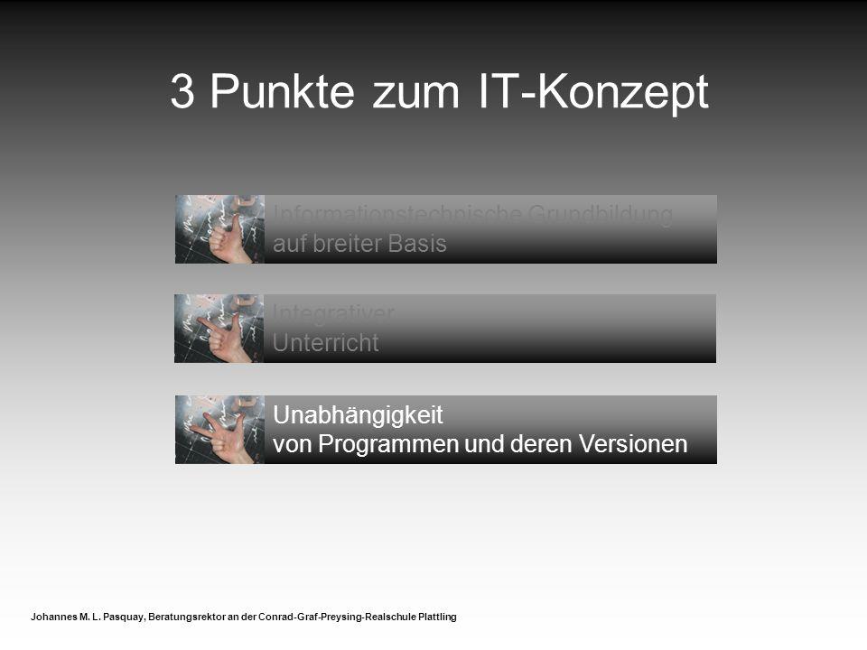 3 Punkte zum IT-Konzept Informationstechnische Grundbildung