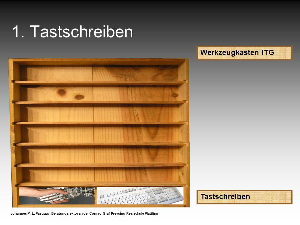 1. Tastschreiben Werkzeugkasten ITG Tastschreiben