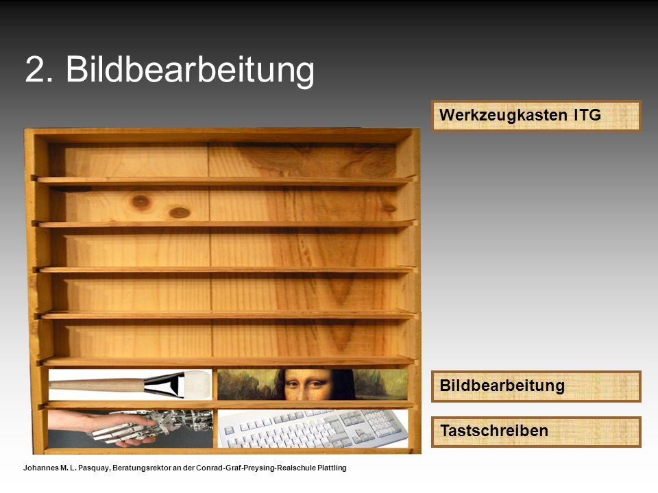 2. Bildbearbeitung Werkzeugkasten ITG Bildbearbeitung Tastschreiben