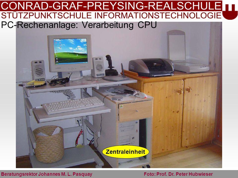 PC-Rechenanlage: Verarbeitung CPU