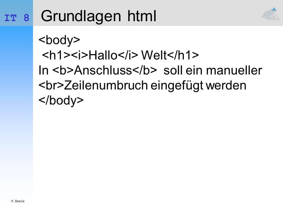 Grundlagen html <body>