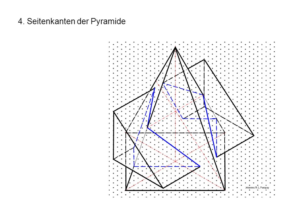 4. Seitenkanten der Pyramide