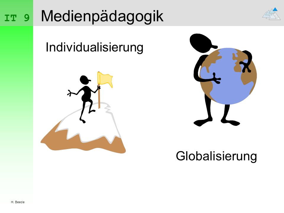 IT 9 H. Beede Medienpädagogik Individualisierung Globalisierung