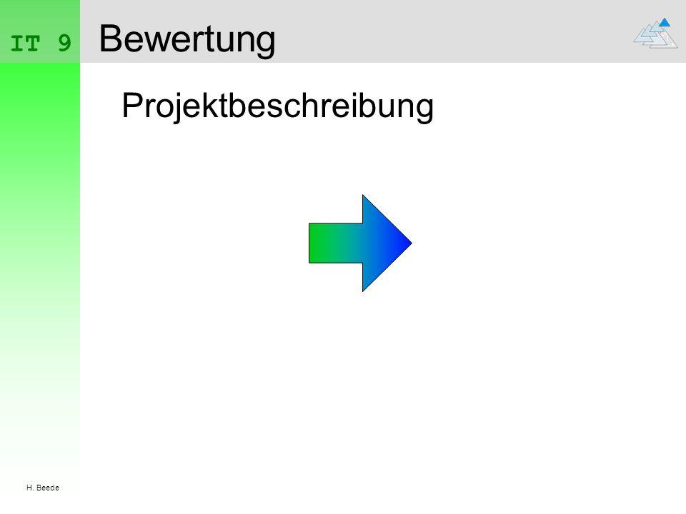 IT 9 H. Beede Bewertung Projektbeschreibung