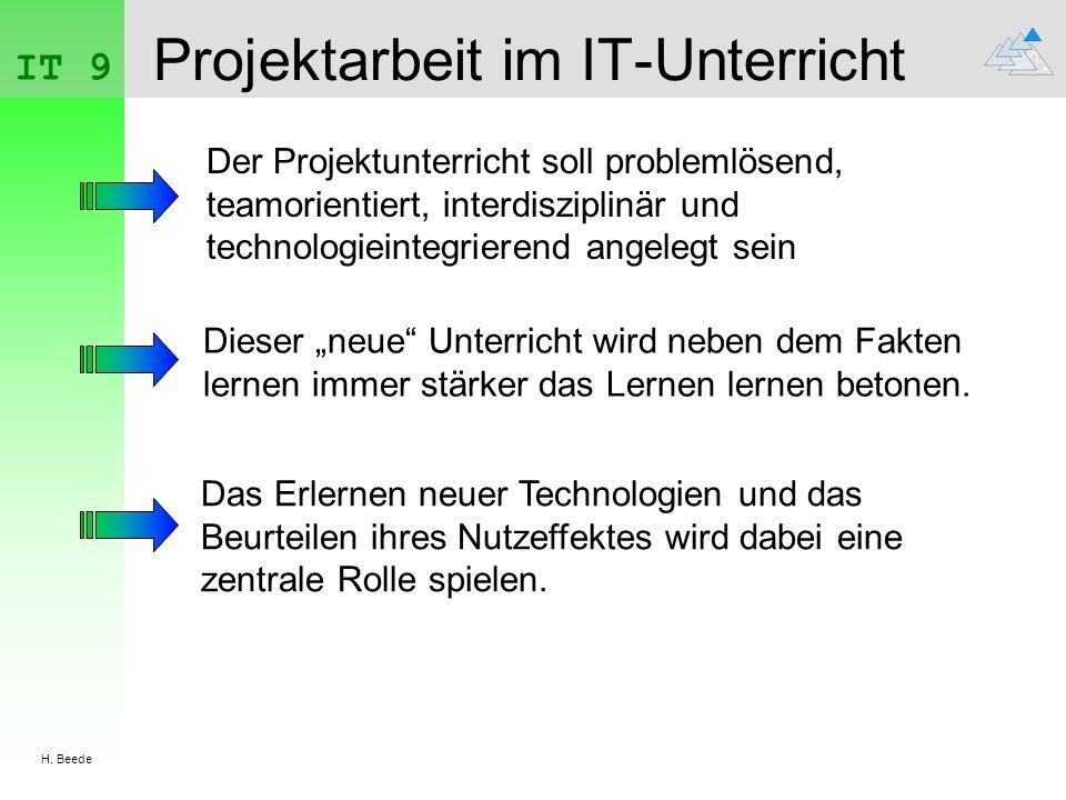 Projektarbeit im IT-Unterricht