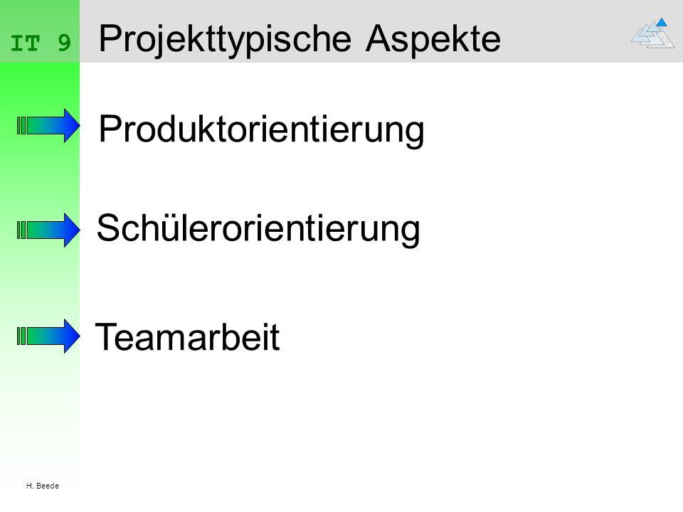 Projekttypische Aspekte