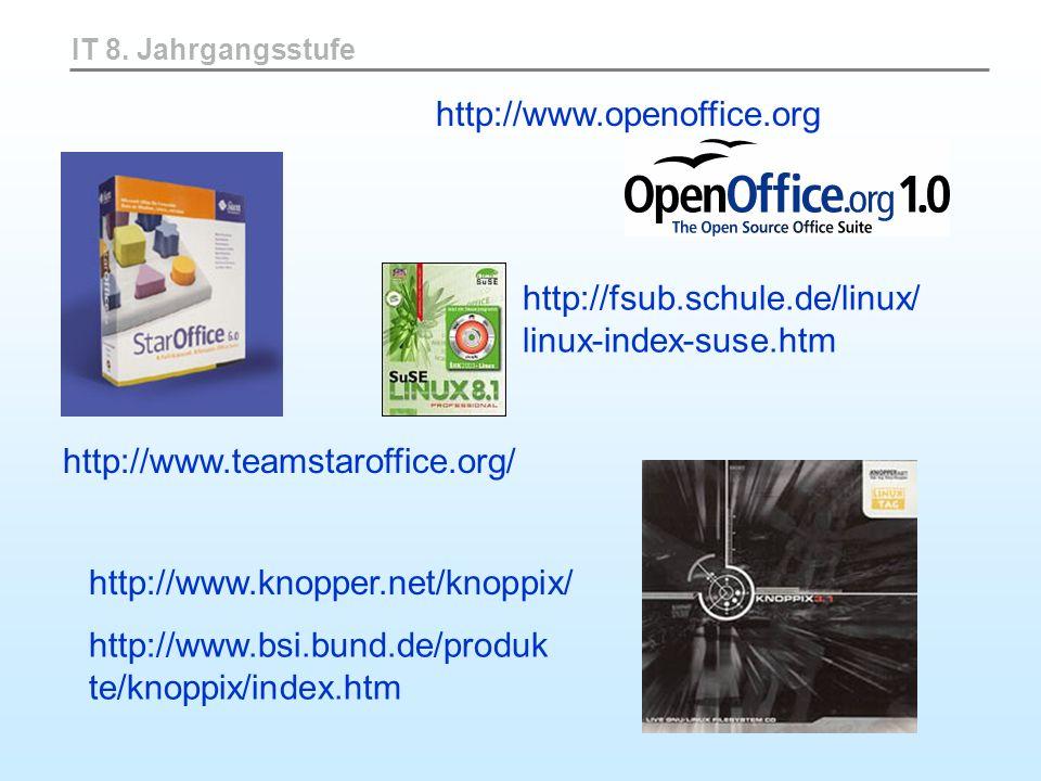 http://fsub.schule.de/linux/ linux-index-suse.htm
