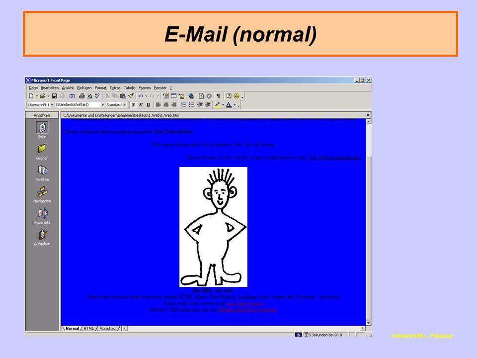E-Mail (normal) Ein besonderer Link: Die mailto-Anweisung.