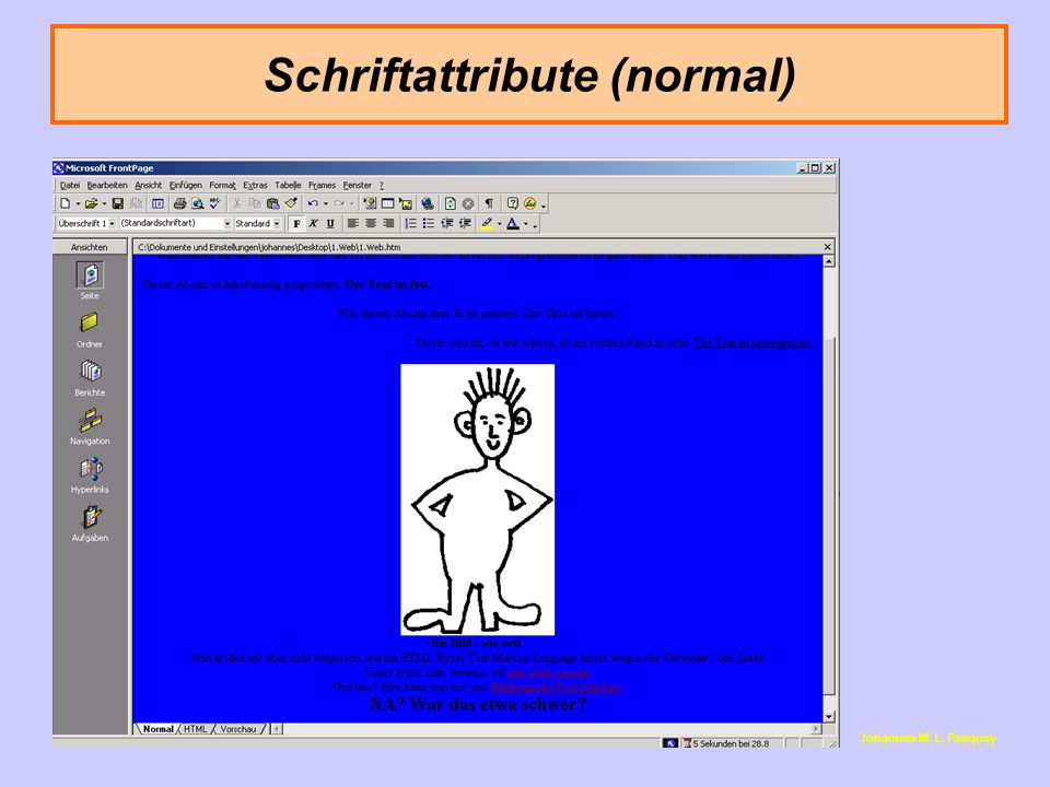 Schriftattribute (normal)