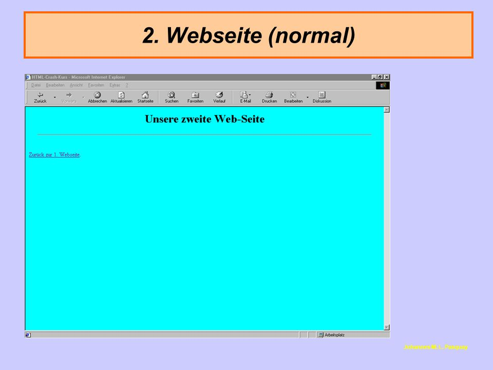 2. Webseite (normal) Johannes M. L. Pasquay