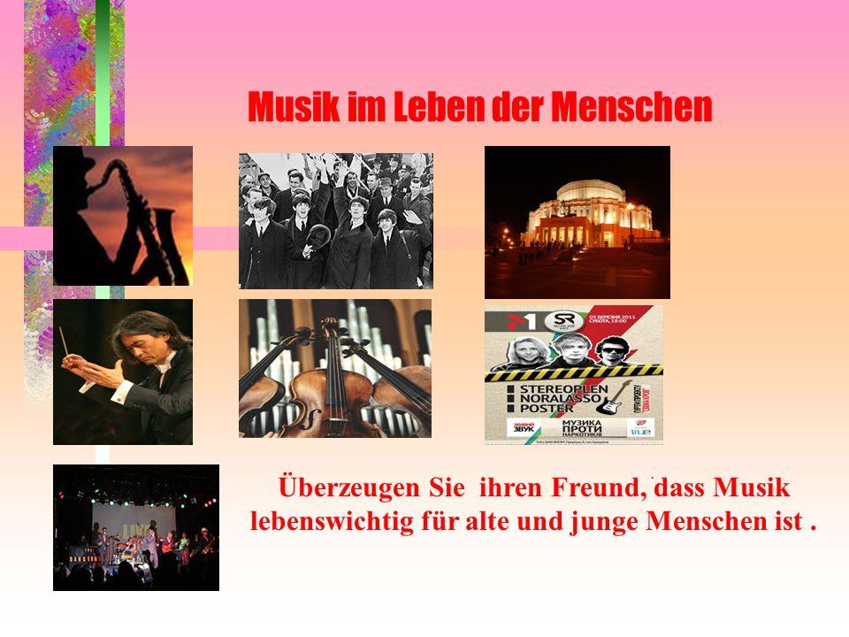 Musik im Leben der Menschen