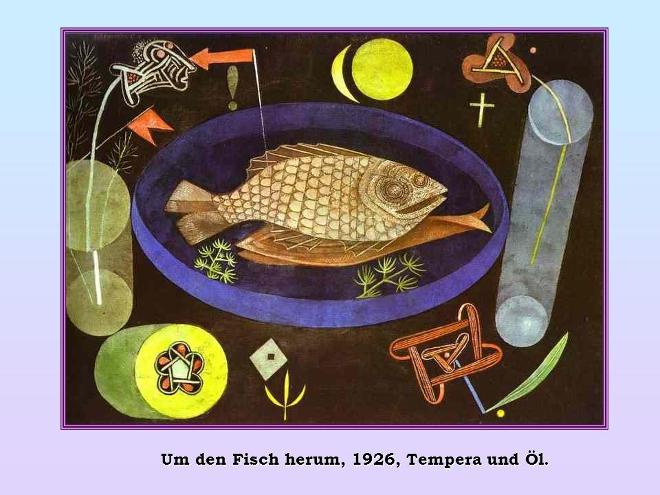 Um den Fisch herum, 1926, Tempera und Öl.
