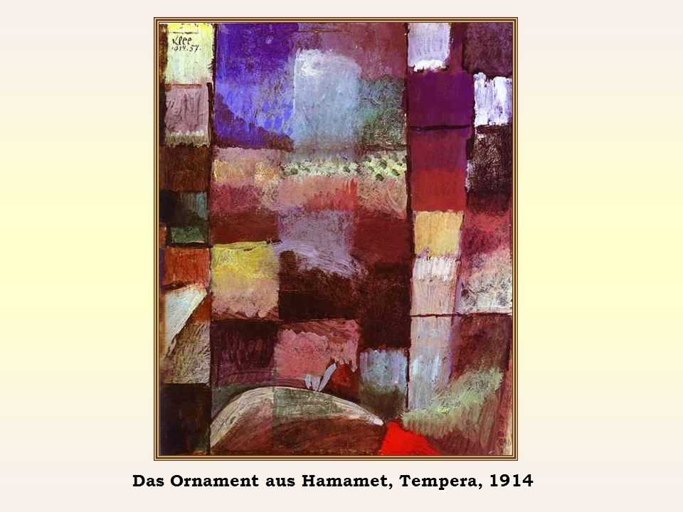Das Ornament aus Hamamet, Tempera, 1914
