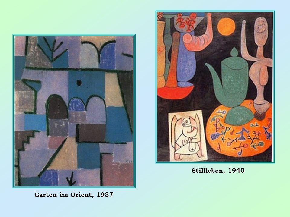 Stillleben, 1940 Garten im Orient, 1937