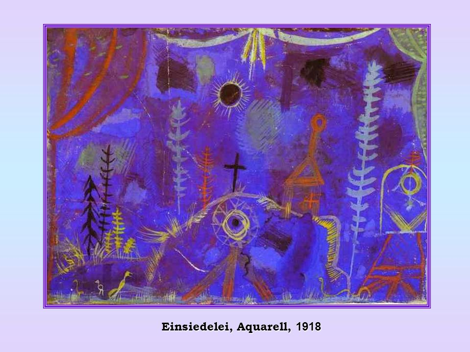 Einsiedelei, Aquarell, 1918