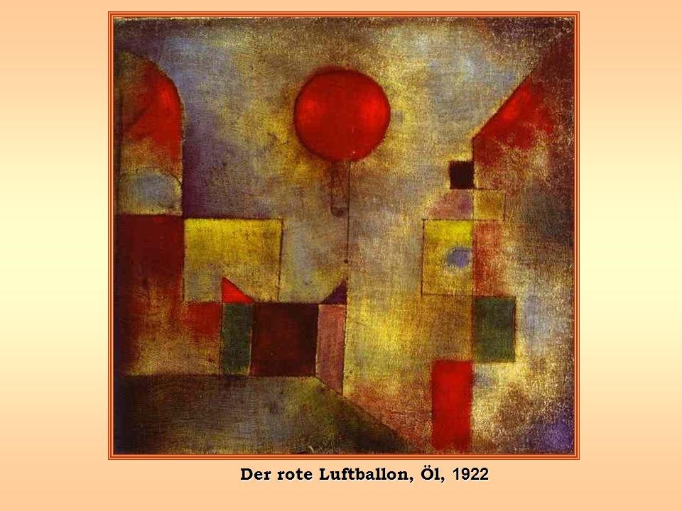 Der rote Luftballon, Öl, 1922