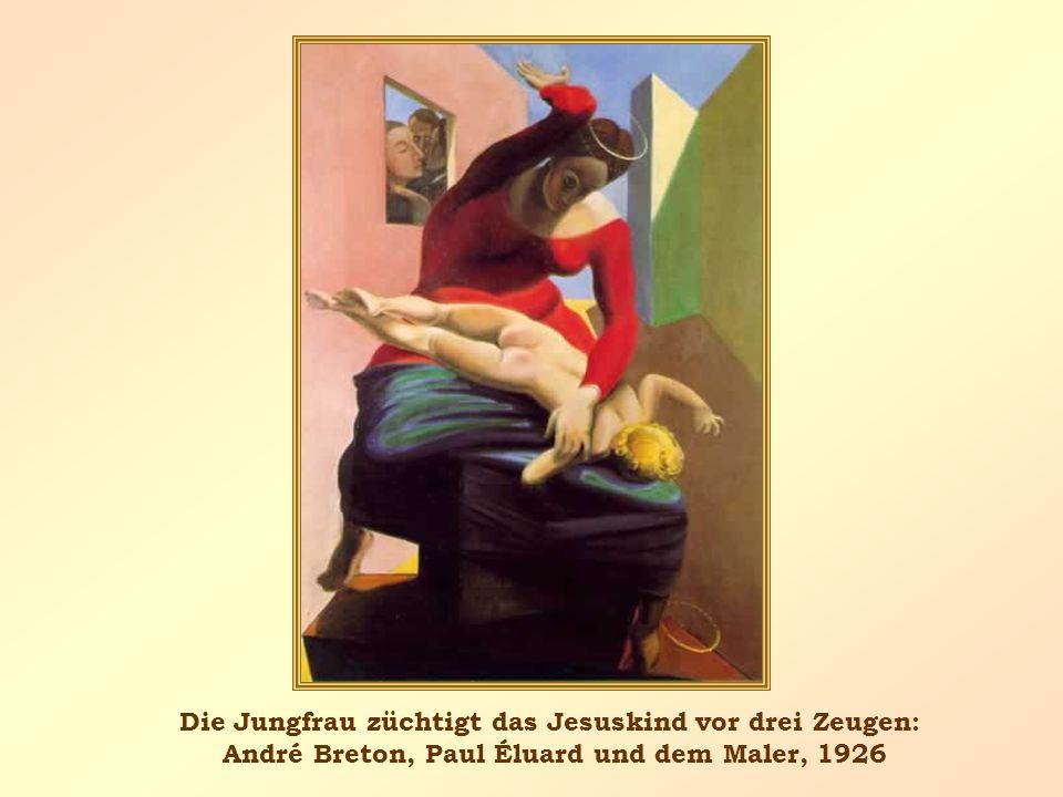 Die Jungfrau züchtigt das Jesuskind vor drei Zeugen: