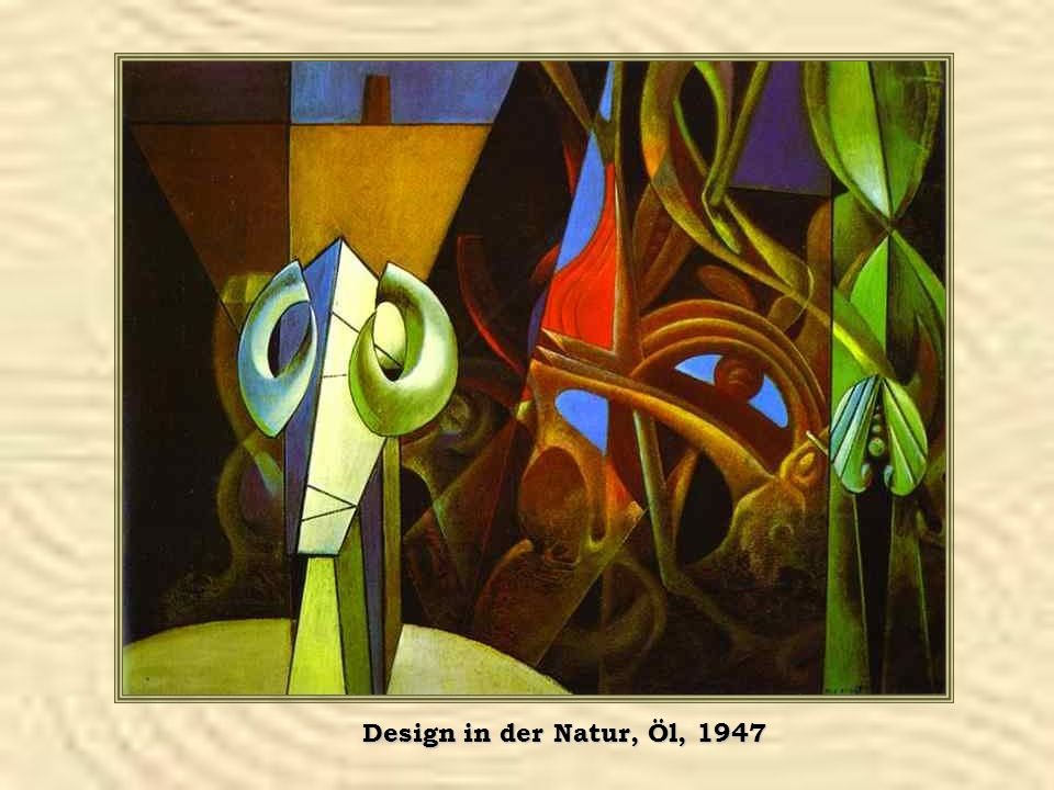 Design in der Natur, Öl, 1947