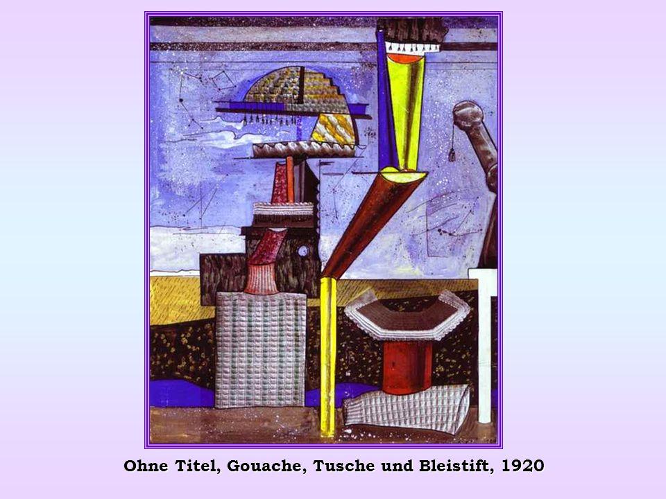 Ohne Titel, Gouache, Tusche und Bleistift, 1920