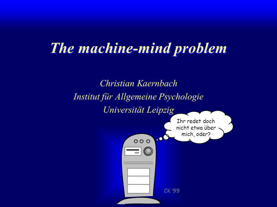 The machine-mind problem