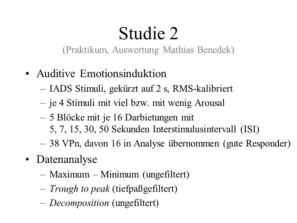 Studie 2 (Praktikum, Auswertung Mathias Benedek)