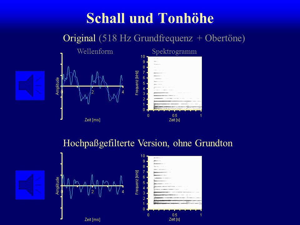 Schall und Tonhöhe Original (518 Hz Grundfrequenz + Obertöne)