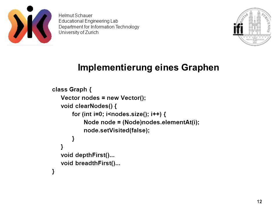 Implementierung eines Graphen