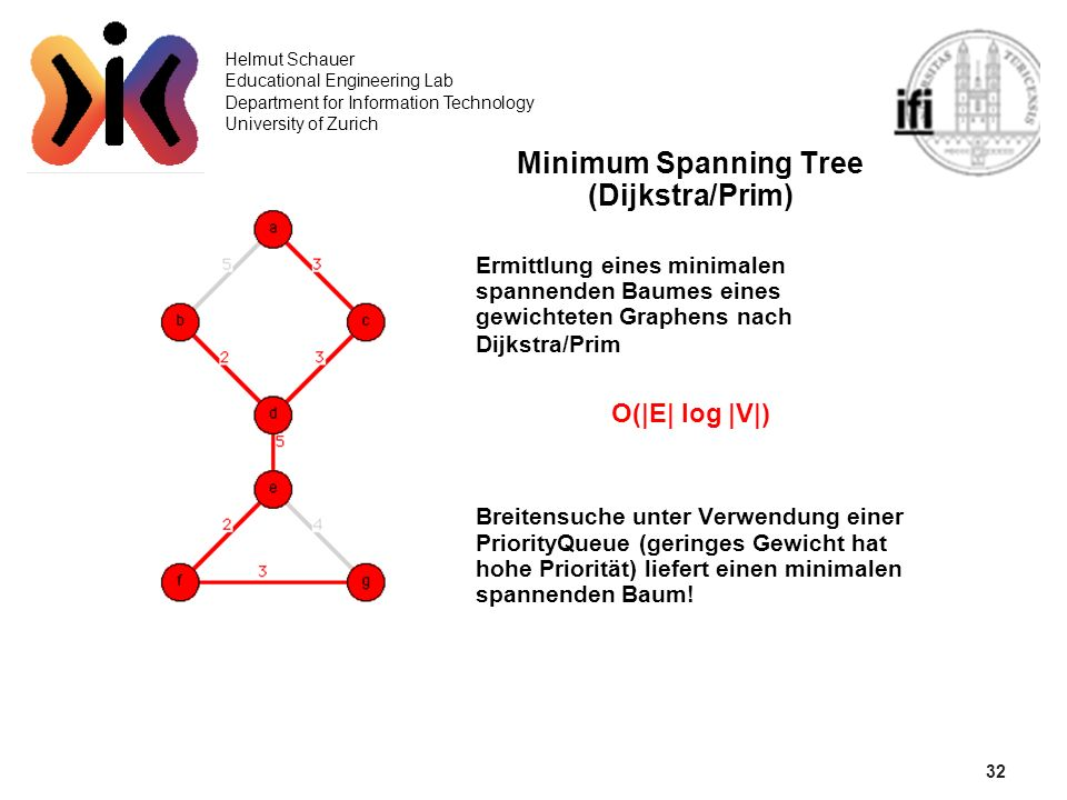 Minimum Spanning Tree (Dijkstra/Prim)